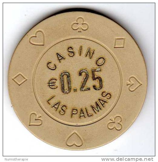 Jeton De Casino : Las Palmas €0.25 - Casino