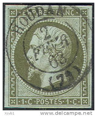 # France 12, Used, VF,Sound, Attractive (fr012-11, Michel 9 [16-HT - 1853-1860 Napoleon III