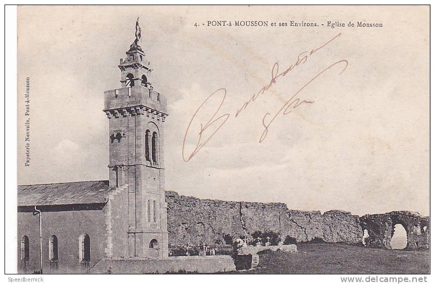 18737 PONT A MOUSSON - Et Ses Environs, Eglise De Mousson. 4 Papeterie Nouvelle - Pont A Mousson