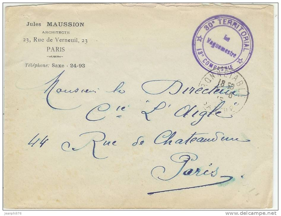 Cachet postal / 30° territorial 610_001