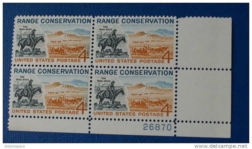 USA 1961 RANGE CONSERVATION  BLOCK MNH** - Blocchi & Foglietti