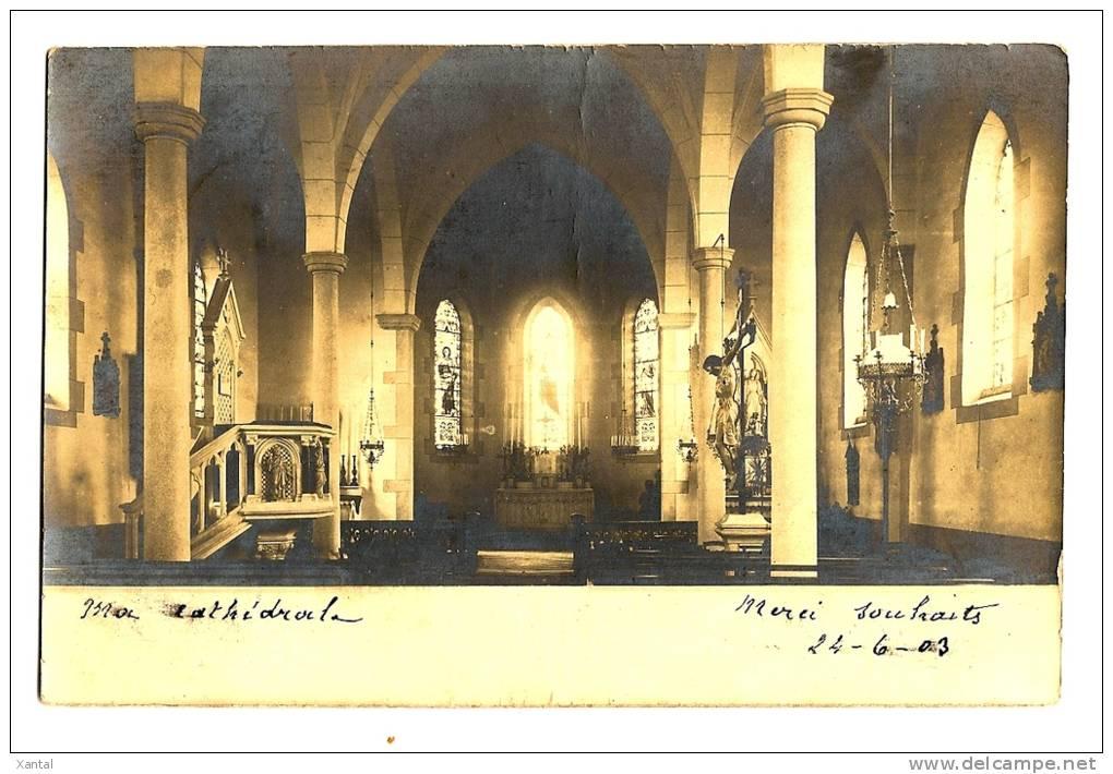 Monbrisson - Vue Intérieure De La Cathédrale - Dos écrit En 1903 - Timbrée - Montbrison