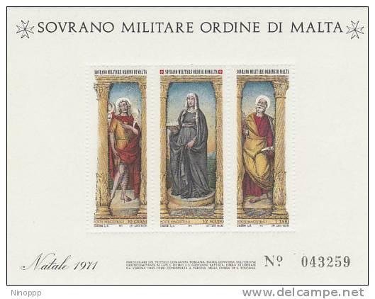 SMOM-1971 BF 4 Christmas Souvenir Sheet MNH - Malte (Ordre De)