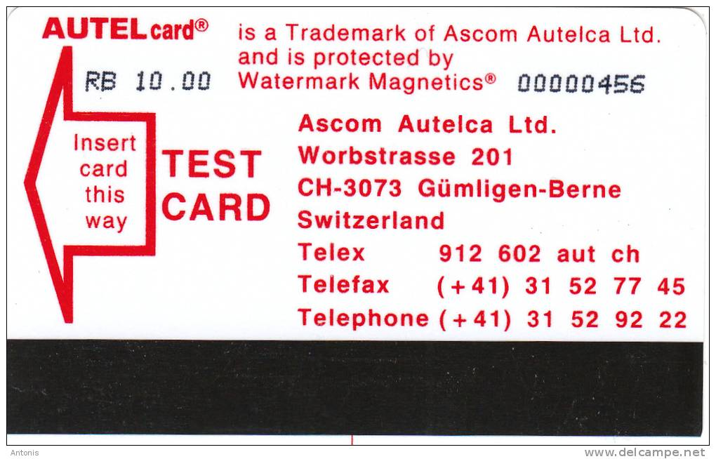 ST.PETERSBURG(Autelca) - Lenfincom/Autel Test Card RB 10, Used - Russia