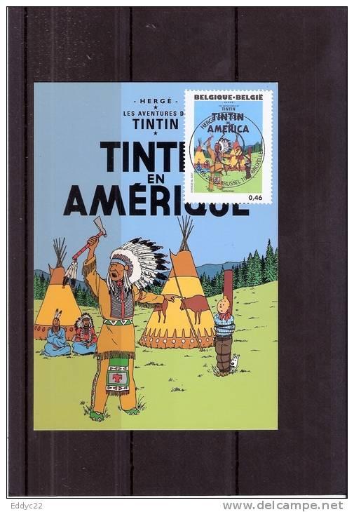 """BD - Super CM Belgium - Hergé - Tintin - Kuifje - """"les Aventures De TINTIN"""" (à Voir) - FDC"""