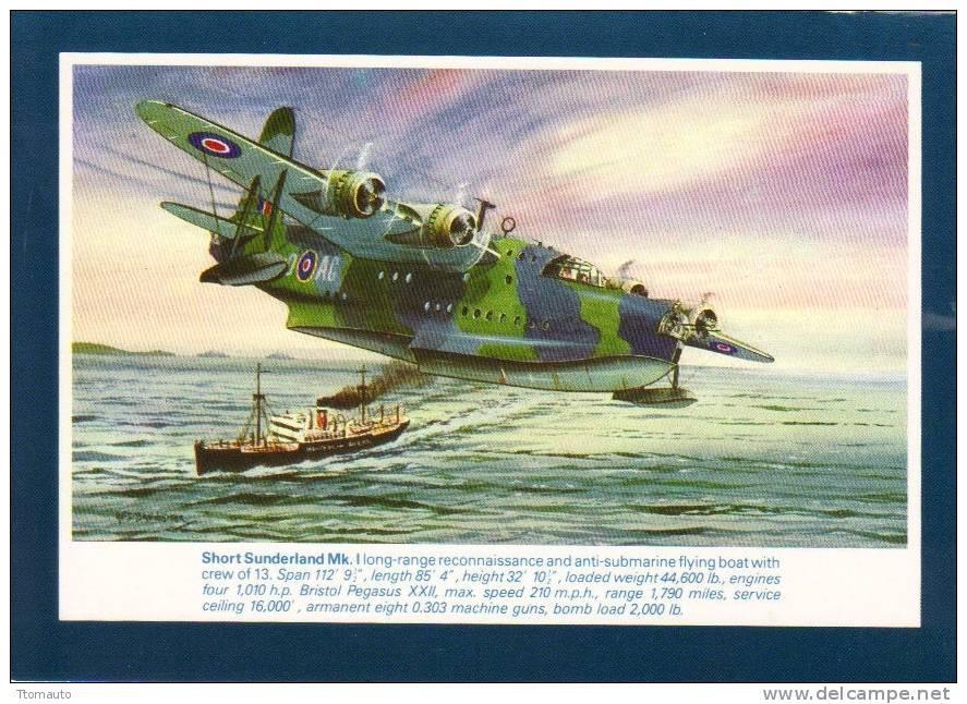 Short Sunderland Mk I   -  By Artist  A.F.D. Bannister - 1946-....: Ere Moderne