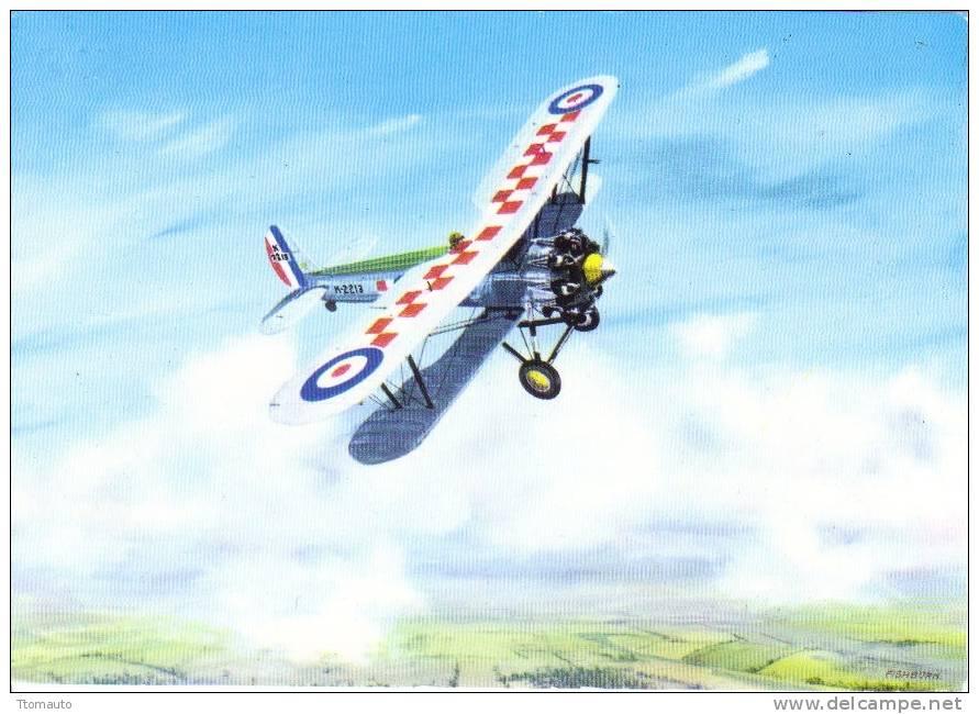 Bristol Bulldog  Of RAF Squadron 56    - Artist Signed Thomas Fishburn - 1939-1945: 2ème Guerre
