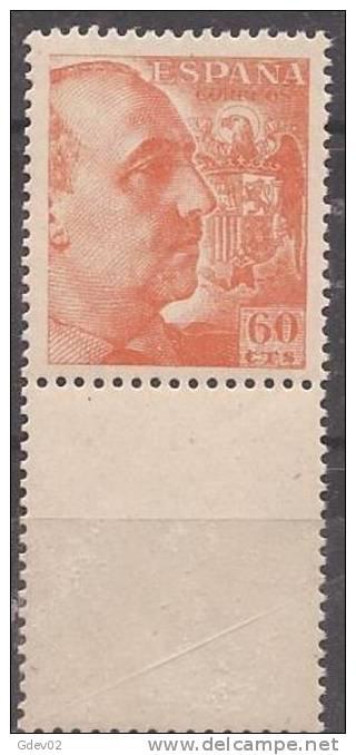 ES1054-LB056. España.Spain Espagne CID Y GENERAL FRANCO 1949/53.(Ed 1054**) Sin Charnela - 1931-50 Nuevos & Fijasellos