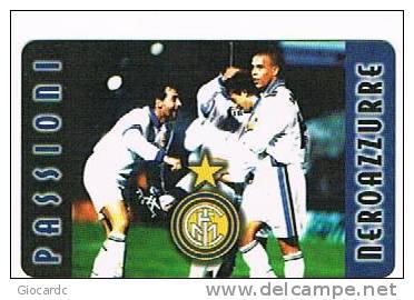 ITALIA - INTERGLOBE - ARCARD. FOOTBALL:  RONALDO   (INTERNAZIONALE MILANO, INTER) TIR. 7500 - USATA  -  RIF. 1363 - Italia