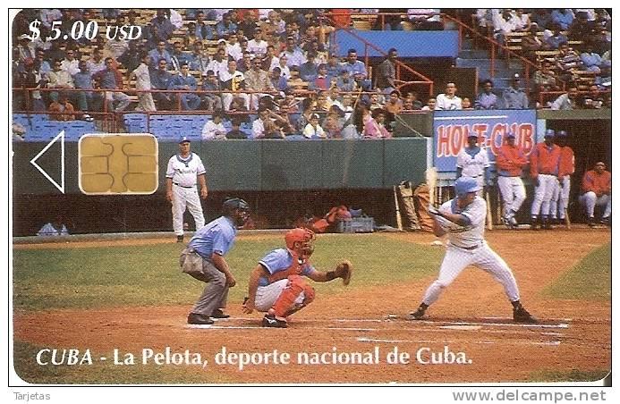 Nº 120  TARJETA DE CUBA DE LA PELOTA DEPORTE NACIONAL - Cuba