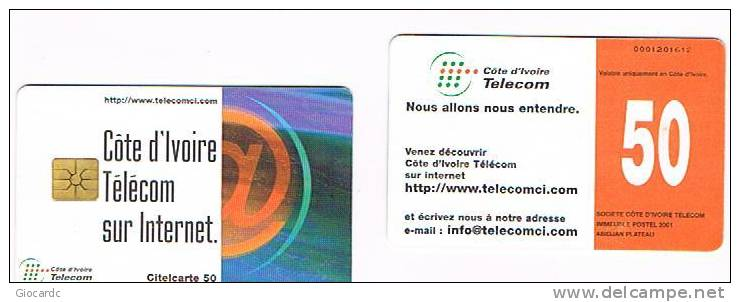COSTA D'AVORIO  (IVORY COAST)  - COTE D'IVOIRE TELECOM (CHIP) - INTERNET   - USED   -   RIF. 521 - Costa D'Avorio