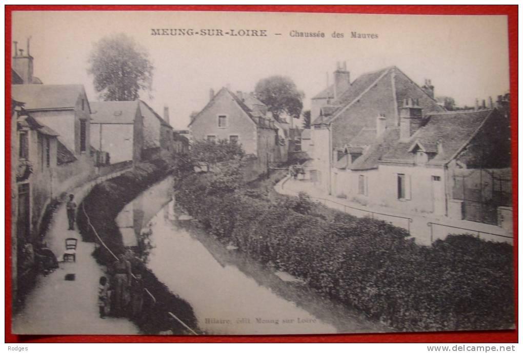 Dep 45 , Cpa MEUNG Sur Loire , Chaussée Des Mauves (21) - Francia