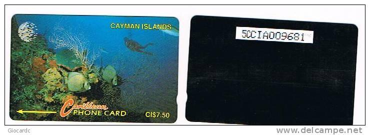 CAYMAN ISLANDS - GPT - VITA MARINA  (SEA LIFE)    CODE 5CCIA - USATA°  (USED)  -  RIF. 1032 - Isole Caiman