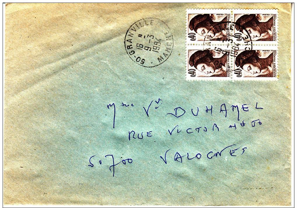 PNU 2181x4 Granville Manuel Valognes - Marcophilie (Lettres)