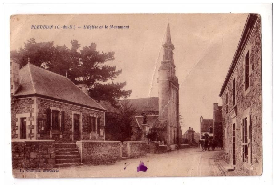 PLEUBIAN  -  L' église Et Le  Monument - Pleubian