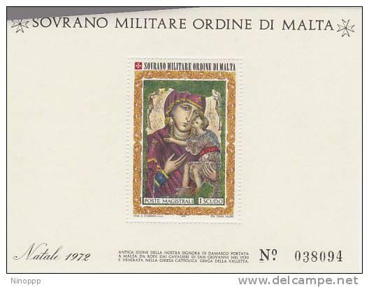 SMOM-1972 BF 5 Christmas Souvenir Sheet MNH - Malte (Ordre De)