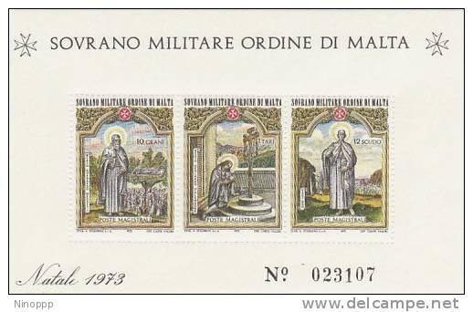 SMOM-1973 BF 6 Christmas Souvenir Sheet MNH - Malte (Ordre De)