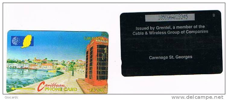 GRENADA  - CABLE & WIRELESS (GPT) - 1997 CARENAGE ST. GEORGES (CODE 105CGRA)  - USED  -  RIF. 1105 - Grenada
