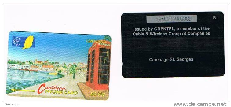 GRENADA  - CABLE & WIRELESS (GPT) - 1997 CARENAGE ST. GEORGES (CODE 165CGRA)  - USED  -  RIF. 1104 - Grenada