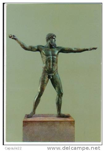 GRECE ATHENES - Musée National Archéoligique - Bronze Statue De Poseidon (ou Zeus) 460 Av JC - Musées