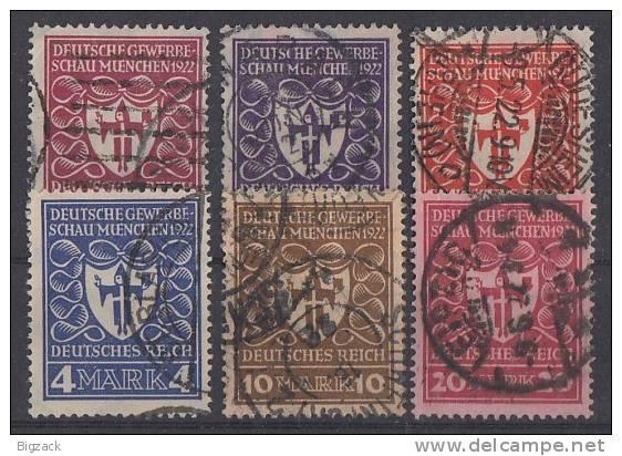 DR Minr.199-204 Gestempelt - Deutschland