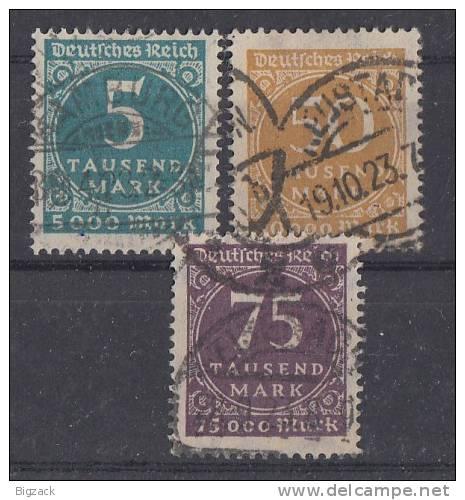 DR Minr.274-276 Gestempelt - Deutschland