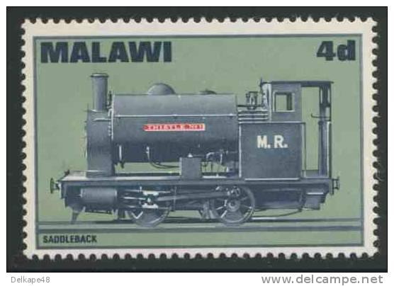 """Malawi 1968 Mi 84 A YT 84 ** Bagnall Steam Locomotive No. 1 """"Thistle"""" (1902) / Dampflokomotive - Treinen"""