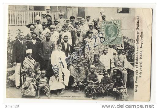 MAHE - KING PREMPEH OF ASHANTI AND FOLLOWER ( Political Prisoners ) - Seychelles