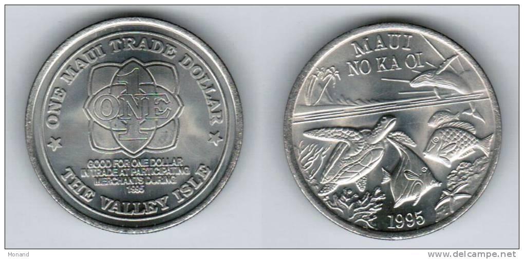 1995 One Maui Trade Dollar - Coins
