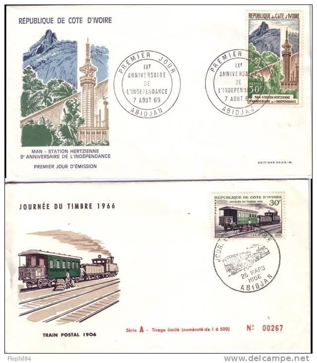 COTE D'IVOIRE - LOT DE  14 1er JOUR TOUS D'ABIDJAN - 1 SEUL DOUBLE. - Côte D'Ivoire (1960-...)
