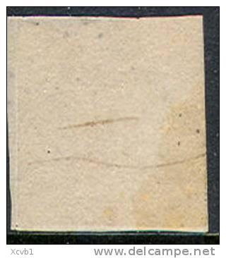 # France 21, Michael 17b Dunkelkarmne Variety, Used, RARE, Sound  (fr021-8, Michel 17b , [16-CBRT - 1853-1860 Napoleon III