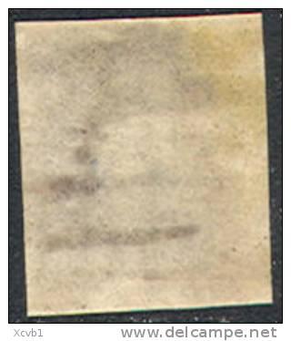 # France 21, Michael 17b Dunkelkarmne Variety, Used, RARE, 4 Mgns.  (fr021-10, Michel 17b , [16-CBRT - 1853-1860 Napoleon III