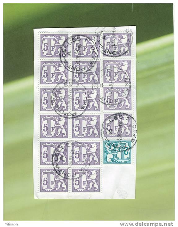 Feuille De Timbre Taxe Belge - Oblitéré Pont-à-Celles - 1997              (1463) - Taxes