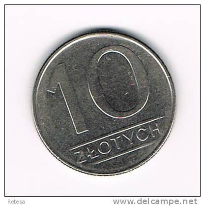 POLEN  10 ZLOTYCH  1988 - Polen