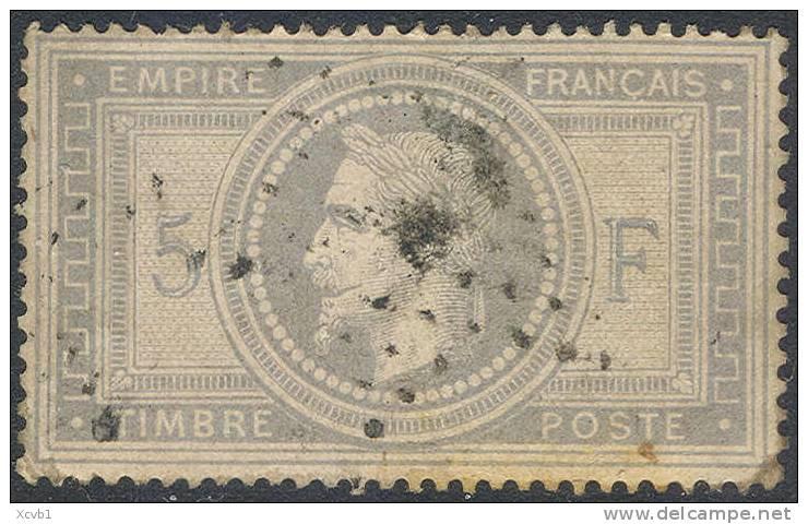 # France   37c, Used,  .4 Margins, Bluish Grey   (fr037-17,  Michel 32    [16-ARTY - 1863-1870 Napoleon III With Laurels