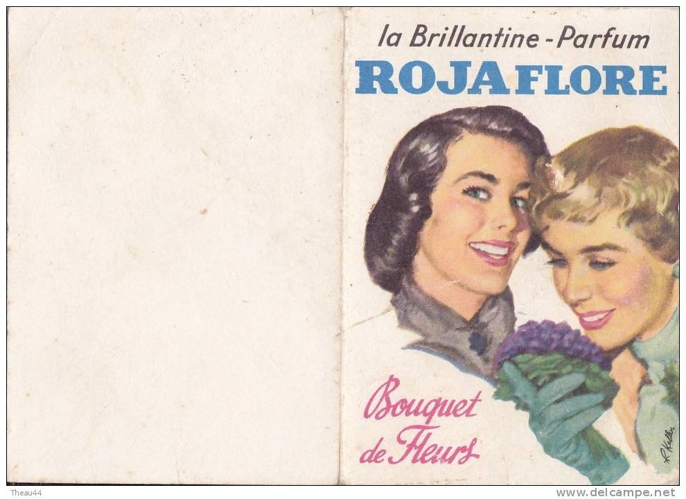"""¤¤  -  Calendrier De 1963  -  Brillantine - Parfum """" ROJAFLORE """"  - Bouquet De Fleur  -  Illustrateur Keller - Petit Format : 1961-70"""