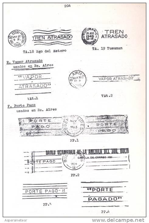 LAS BANDELETAS CON LEYENDAS DEL CORREO ARGENTINO LIBRO ALFREDO GRETHER CATALOGO ILUSTRADO CON LAS EMITIDAS HASTA 1961 - Altri