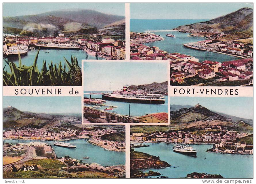 18853 Cote Vermeille, Port Vendres. Souvenir Multivues / APA - Port Vendres