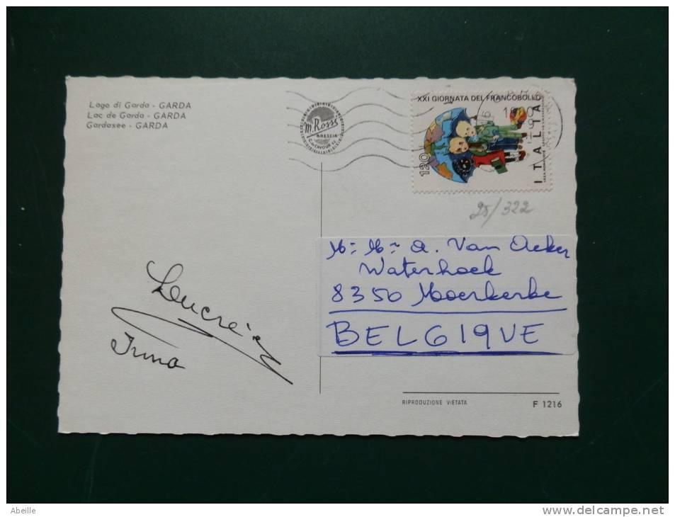 25/322    CP   POUR LA BELGIQUE - 6. 1946-.. Repubblica