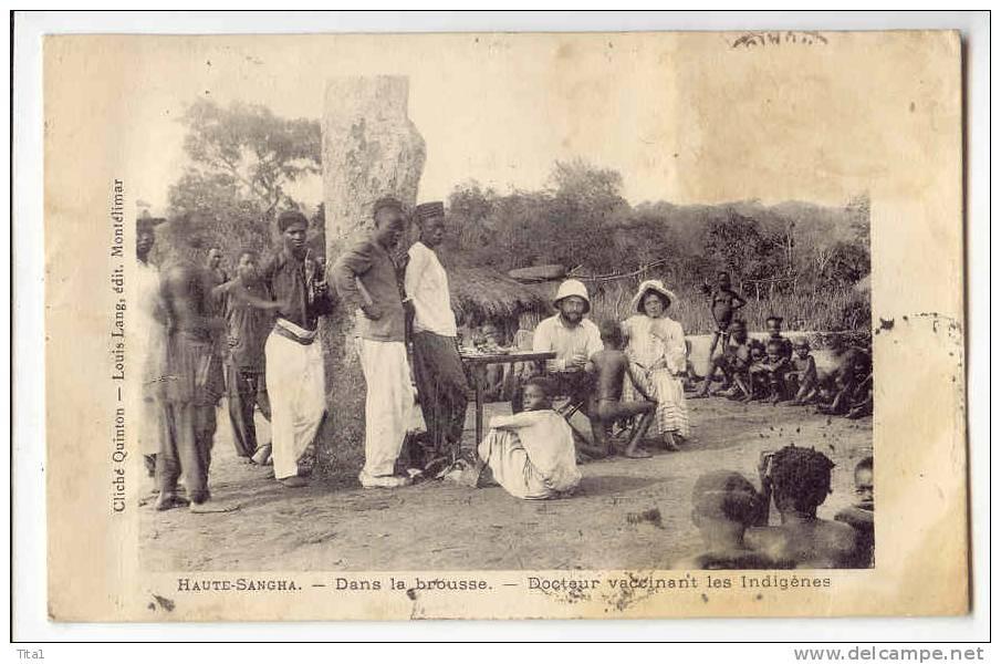 D8889 - Haute Sangha - Dans La Brousse - Docteur Vaccinant Les Indigènes - Centrafricaine (République)