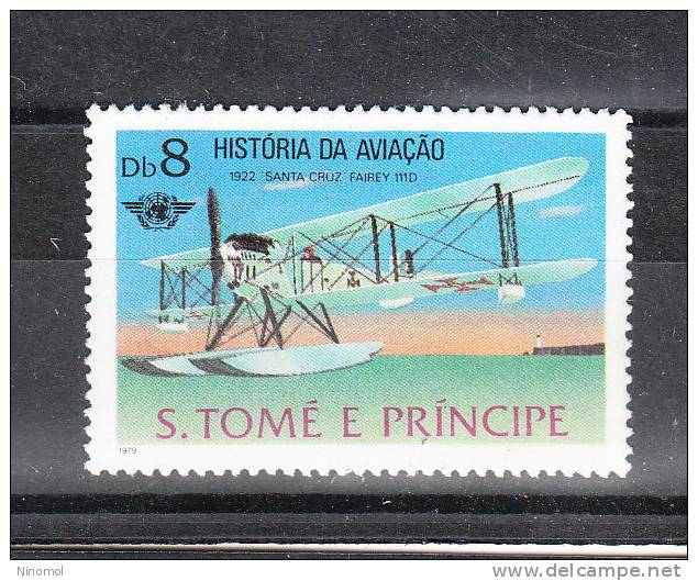 S. Tomè  & Prince   -   1980.  Idrovolante Del '22. History Of Aviation. Seaplane  Of  1922. MNH - Aerei