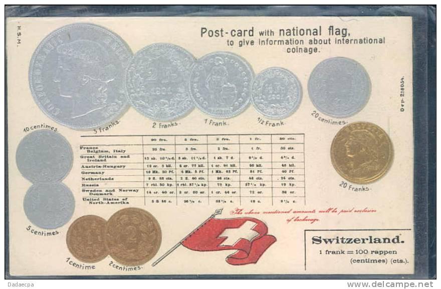Monnaye Suisse, Drapeau Suisse, - Monnaies (représentations)