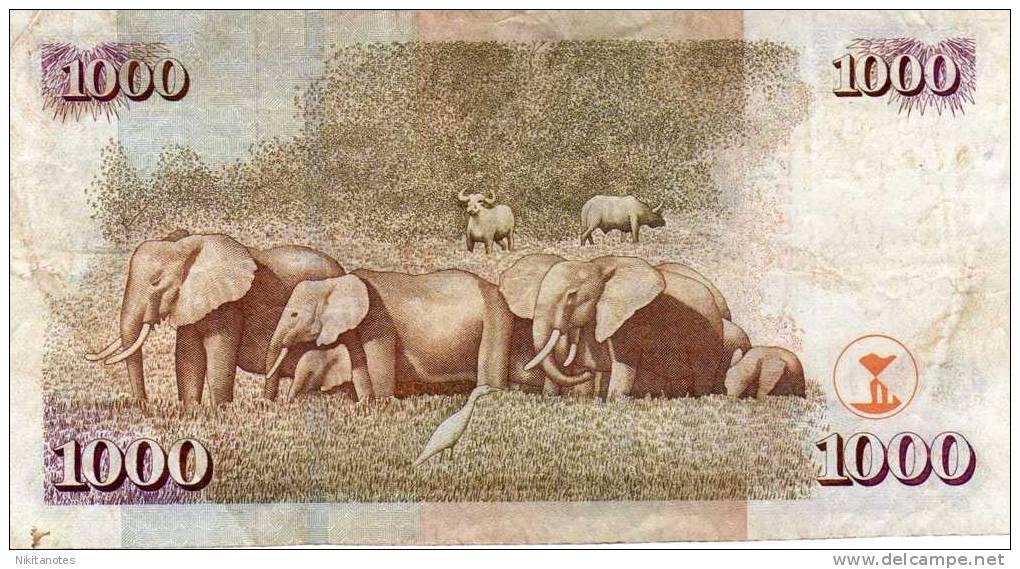 Kenia 1000 Shillings 2005 Banknote  F - Kenia