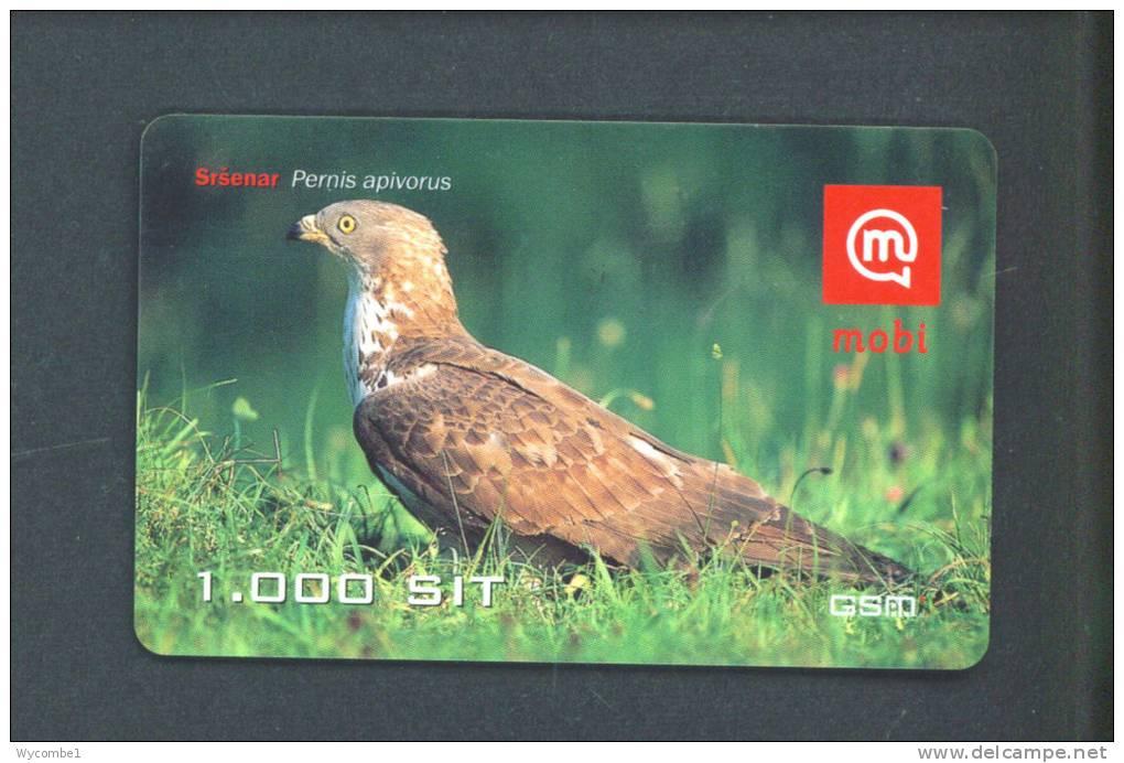 SLOVENIA  -  Mobitel Remote Phonecard/Bird As Scan - Slovénie