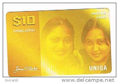 SURINAME (SURINAM) - UNIQA  (GSM RECHARGE) - IEM SABI: 2 GIRLS      - USED  -  RIF. 2061 - Suriname