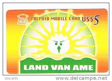 SURINAME (SURINAM) - TELE SUR  (GSM RECHARGE) - LAND VAN AME      - USED  -  RIF. 2054 - Suriname
