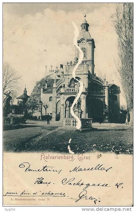 Ralvarienberg  Graz CPA 14/09/1900 NACH FRANKREICH Colombey Les Belles Bei Nancy - Österreich