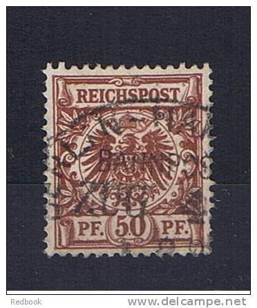 RB 806 - Germany 1889 - 50pf Reichspost SG 51 Or 51b ? - Fine Used Stamp - Railway Station Postmark - Usados