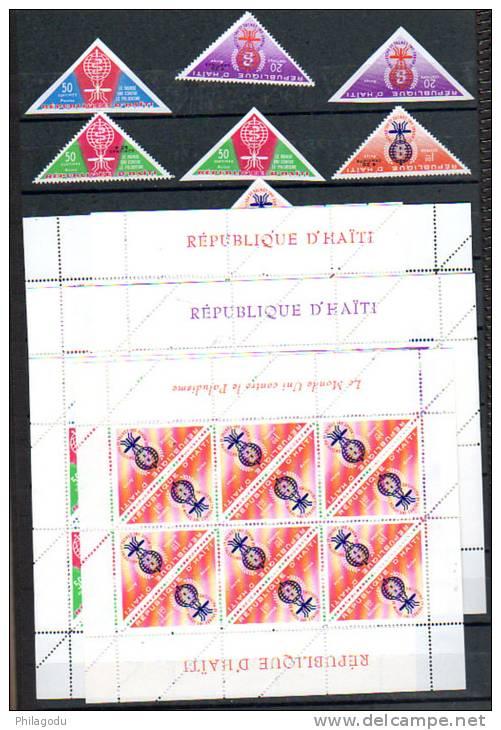 Thématique : éradication Du Paludisme, Malaria, Cote 694 €, - Krankheiten