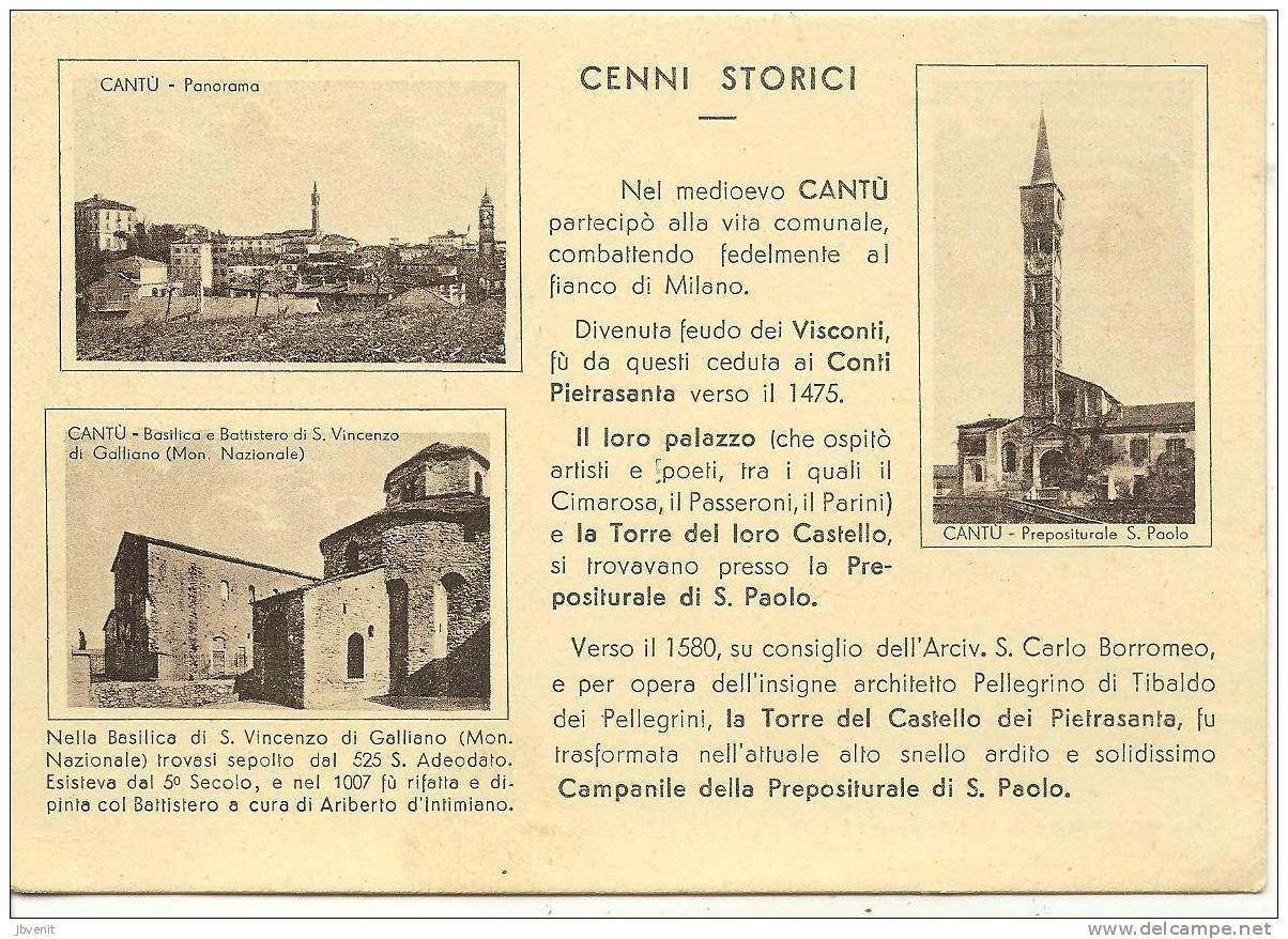 LOMBARDIA - CANTU' (Varese) - Cenni Storici E 3 Vedutine - Varese